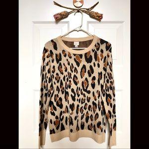 NWOT! A New Day Leopard Print Lightweight Sweater